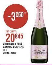 Champagne rosé Canard-Duchene offre à