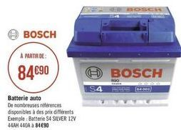 Batterie auxiliaires pour moteurs Bosch offre à