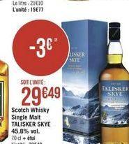 Whisky offre à