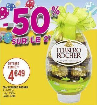 Oeuf Ferrero Rocher offre à