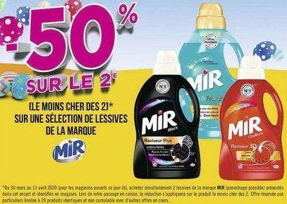 Sur une sélection de produits de la marque MIR offre à