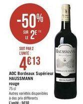 AOC Bordeaux Supérieur HAUSSMANN rouge offre à