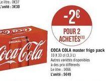 Coca-cola master frigo pack offre à