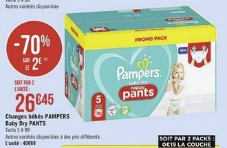 Changes bebes Pampers Baby Dry Pants offre à