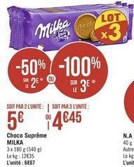Choco supreme Milka offre à