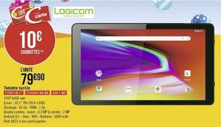 Tablette Logicom offre à