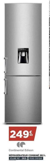 Réfrigérateur  Continental Edison offre à