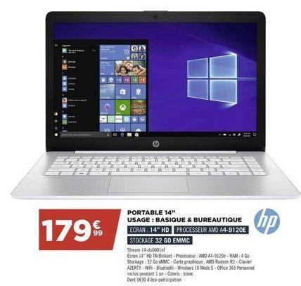 Portable 14'' HP offre à