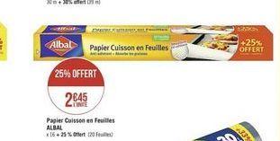 Papier Albal offre à
