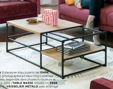 Table basse offre à 399€