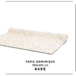 Tapis offre à 449€