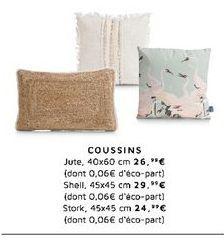 Coussins offre à 29,99€