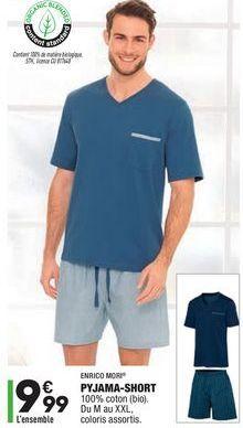 Pyjama short offre à 9,99€