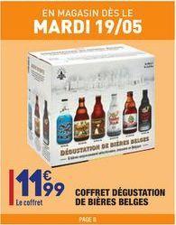 Coffret dégustation de bières belges offre à 11,99€
