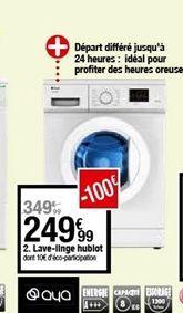 Lave-linge hublot offre à 249,99€