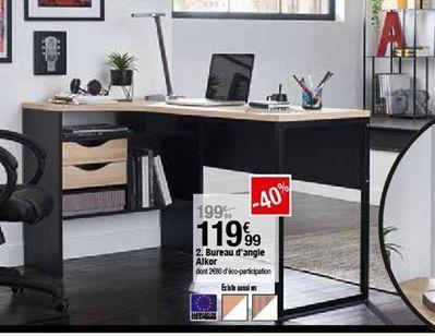 Bureau d´angle Alkor offre à 119,99€