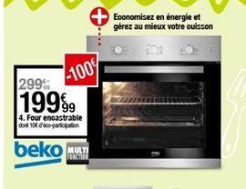 Four encastrable offre à 199,99€