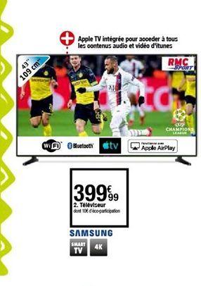 Téléviseur Samsung offre à 399,99€