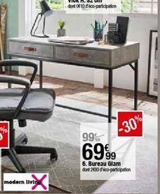 Bureau glam offre à 69,99€