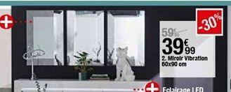 Miroir Vibration 60x90cm offre à 39,99€