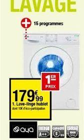 Lave-linge offre à 179,99€