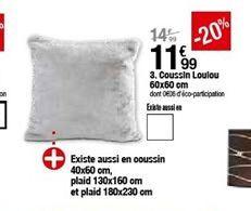 Coussins loulou 60x60 cm offre à 11,99€
