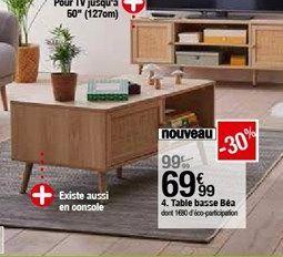 Table basse Bea offre à 69,99€