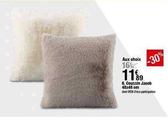Coussins Jacob 45x45 cm offre à 11,89€