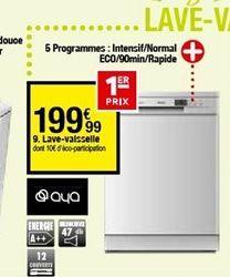 Lave-vaisselle offre à 199,99€