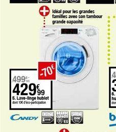 Lave-linge hublot offre à 429,99€