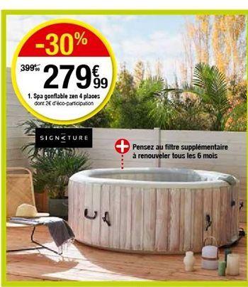 Spa gonflable zen 4 places offre à 279,99€