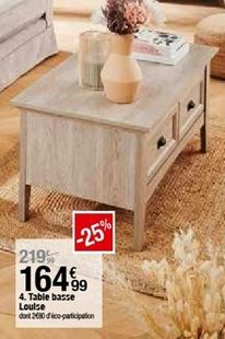 Table basse Loulse  offre à 164,99€