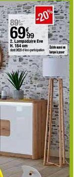 Lampadaire eve H. 154cm  offre à 69,99€