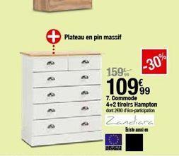 Commode 4+2 hampton offre à 109,99€