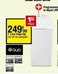 Lave-linge top offre à 249,99€