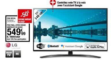 Téléviseur LG offre à 549,99€