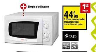 Four micro-ondes offre à 44,99€