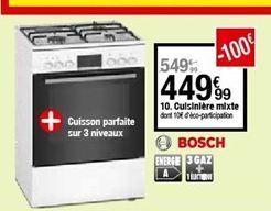 Cuisinière mixte Bosch offre à 449,99€