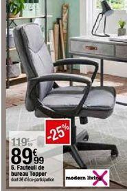 Fauteuil de bureau topper  offre à 89,99€