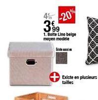 Boîte lino beige moyen modele offre à 3,99€