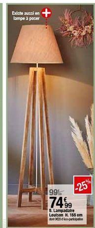 Lampadaire Louison 155cm offre à 74,99€