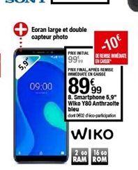 Smartphones Wiko offre à 89,99€