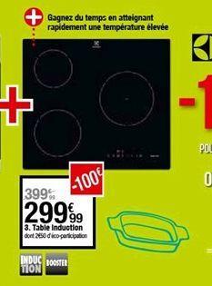 Table induction  offre à 299,99€