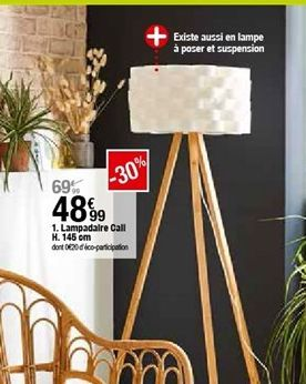 Lampadaire Call H.145cm  offre à 48,99€