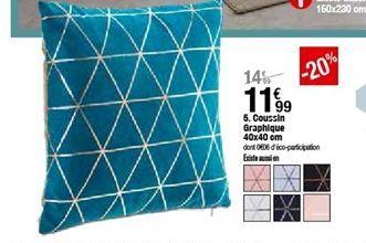 Coussin graphique 40x40cm offre à 11,99€