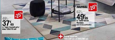 Tapis soandl gris / bleu 120x170 cm offre à 37,49€