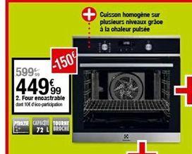Four encastrable offre à 449,99€