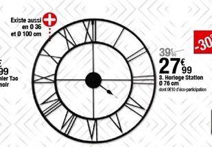 Horloge Station 76cm offre à 27,99€