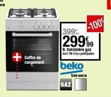 Cuisinière à gaz Beko offre à 299,99€
