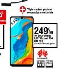 Smartphones Huawei p30 offre à 249,99€